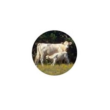 cow and calf Mini Button