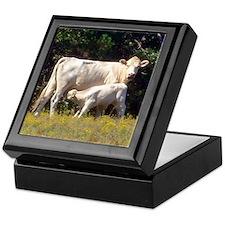 cow and calf Keepsake Box