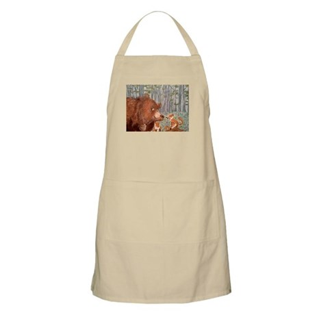 Bear and foxes Apron
