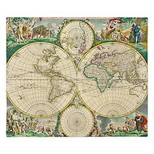 World Map 1670 King Duvet