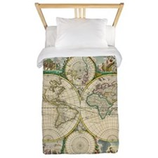 World Map 1670 Twin Duvet