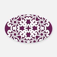 Alyssum & White Lace Tile Oval Car Magnet