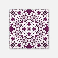 """Alyssum & White Lace Tile Square Sticker 3"""" x 3"""""""