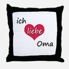 ich liebe Oma I love grandma in German Throw Pillo