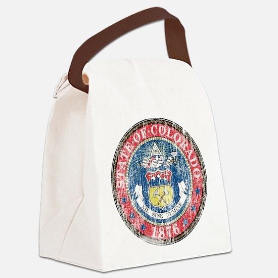 Aged Colorado Seal Canvas Lunch Bag