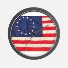 AMERICAN COLONIAL FLAG Wall Clock