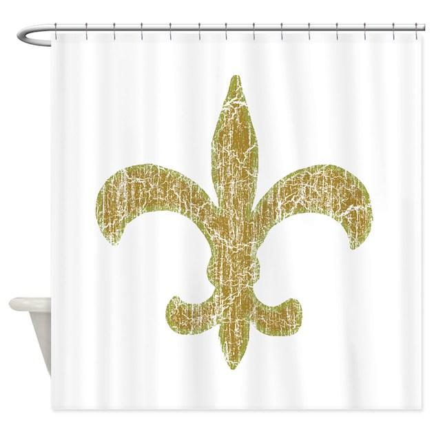 Vintage Fleur De Lis Shower Curtain By Nationalvintage