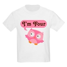 4th Birthday Owl T-Shirt