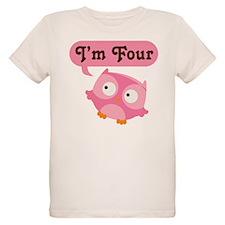 4th Birthday Owl T-Shirt