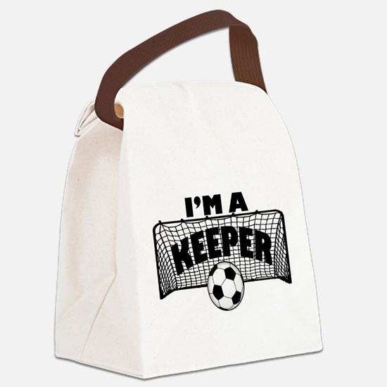 Im a Keeper soccer copy.png Canvas Lunch Bag