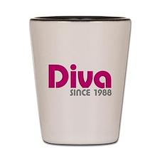 Diva Since 1988 Shot Glass
