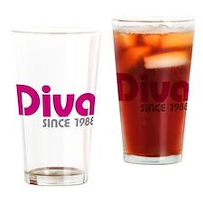 Diva Since 1988 Drinking Glass