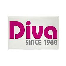 Diva Since 1988 Rectangle Magnet