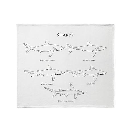 Sharks Logo Throw Blanket