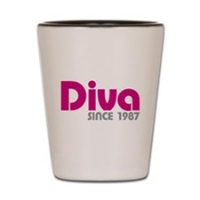 Diva Since 1987 Shot Glass