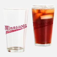 Faded Minnesota Drinking Glass
