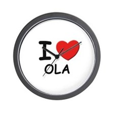 I love Ola Wall Clock