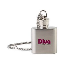 Diva Since 1985 Flask Necklace