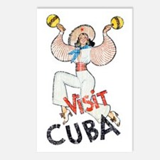 Vintage Visit Cuba Postcards (Package of 8)
