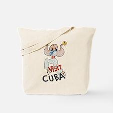 Vintage Visit Cuba Tote Bag
