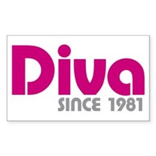 Diva Since 1981 Decal