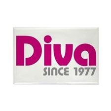Diva Since 1977 Rectangle Magnet