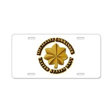 Navy - LCDR Aluminum License Plate
