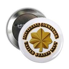 """Navy - LCDR 2.25"""" Button (10 pack)"""