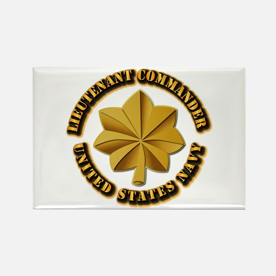 Navy - LCDR Rectangle Magnet