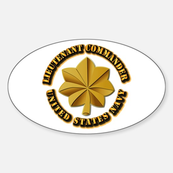 Navy - LCDR Sticker (Oval)