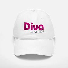 Diva Since 1974 Baseball Baseball Cap
