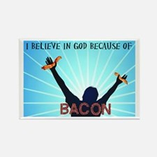 Bacon Belief Rectangle Magnet
