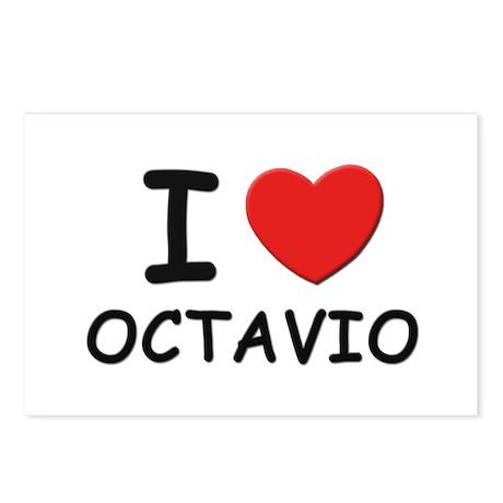 I love Octavio Postcards (Package of 8)