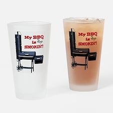 My BBQ is Smokin'! Drinking Glass