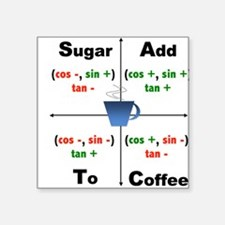 Trig Signs Add Sugar To Coffee Sticker
