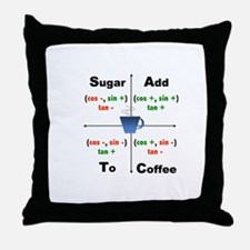 Trig Signs Add Sugar To Coffee Throw Pillow