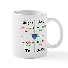 Trig Signs Add Sugar To Coffee Small Mug