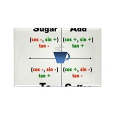 Trig Signs Add Sugar To Coffee Rectangle Magnet