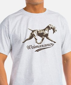Weimaraner hunting dog with bird T-Shirt
