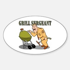 Grill Sergeant<br> Oval Decal