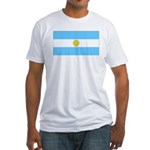 Argentina Blank Flag Fitted T-Shirt