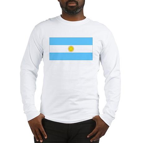 Argentina Blank Flag Long Sleeve T-Shirt