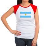 Argentina Blank Flag Women's Cap Sleeve T-Shirt