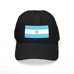 Argentina Blank Flag Black Cap