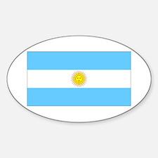 Argentina Blank Flag Oval Decal