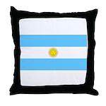 Argentina Blank Flag Throw Pillow