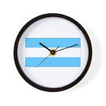 Argentina Blank Flag Wall Clock