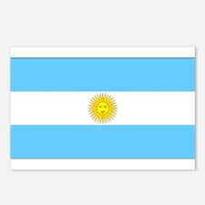 Argentina Blank Flag Postcards (Package of 8)