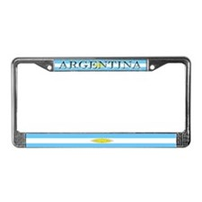 Argentina Blank Flag License Plate Frame