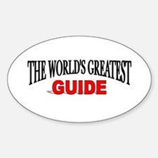 """The World's Greatest Guide"" Oval Decal"